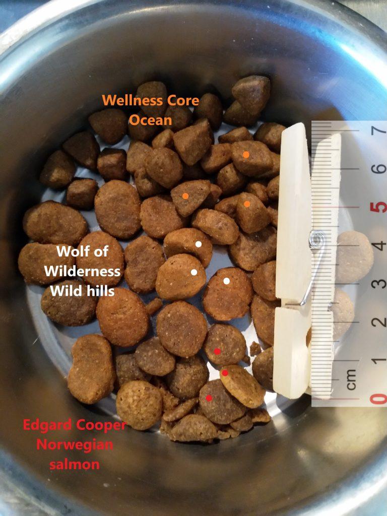 Wellness Core Ocean, Wolf of Wilderness Wild Hills, Edgard Cooper Norwegian Salmon