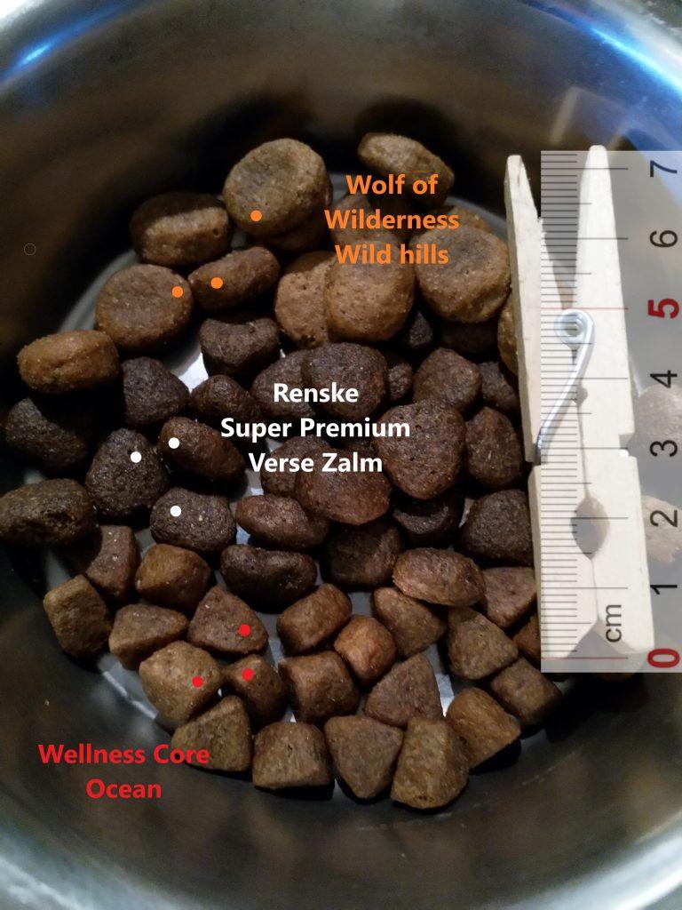 Wellness Core Ocean, Wolf of Wilderness Wild Hills, Renske Super Premium Verse Zalm