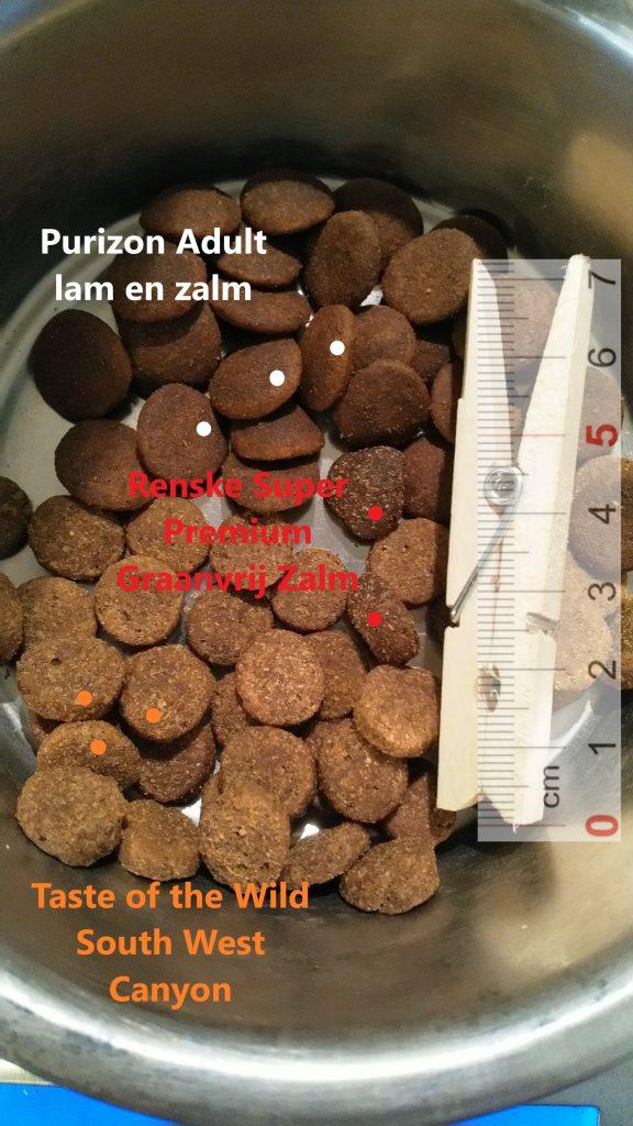 Taste of the Wild South West Canyon, Renske Super Premium Graanvrij Zalm, Purizon Adult lam en zalm